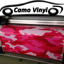 Car Styling Urban Camouflage Vinyl Wrap Pink Red Camo Film Sticker Air Bubble Free Auto Motorcycle Vehicle Wraps Covers