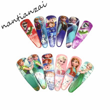 1Pair=2PCS Cartoon My Little Ponys Princess Sofia Hair Clip Children Elsa Hair Accessories Anna Clip Hair Pins Girls Party Gift