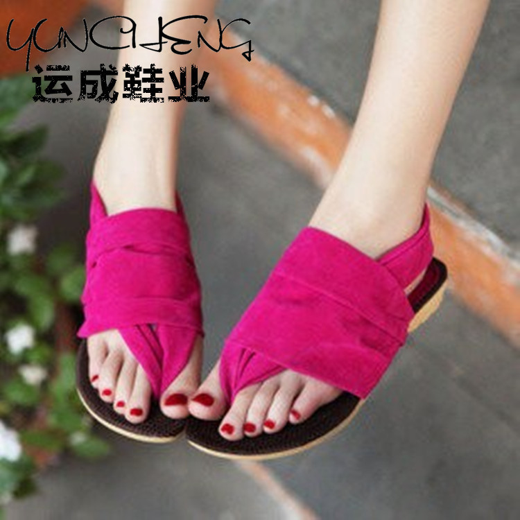 2015 spring and summer new candy-colored casual thong sandals foot ring strap student flat shoes wholesale<br><br>Aliexpress