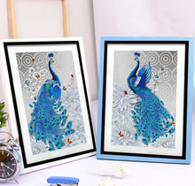5D DIY Diamond Painting cross stitch Peacock Needlework Diamond Mosaic Pattern Hobbies and Crafts Home Decor Gifts(China)