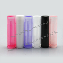 100 PCS Lip Balm Tube empty bottle, 5ml plastic lipbalm tubes, 5g Colorful Lipstick fashion Tubes Free Shipping()