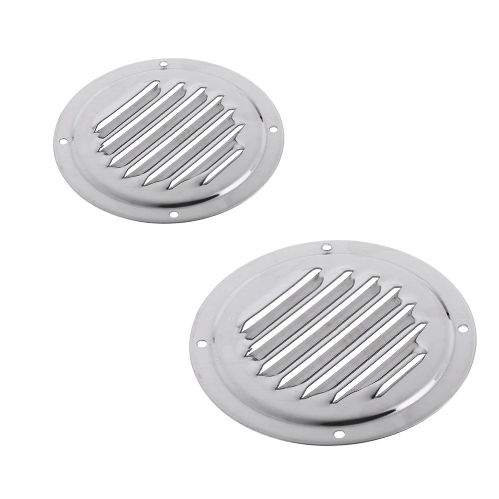 "4PCS 5/""316 Round Louvre Air Vent S.S Ventilation Ventilator Grille Cover Durable"