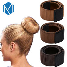 M MISM Girls French Hair Bun Maker Donut Styling Hair Fold Wrap Snap Accessories for Women Curler Roller Quick Dish Headbands(China)