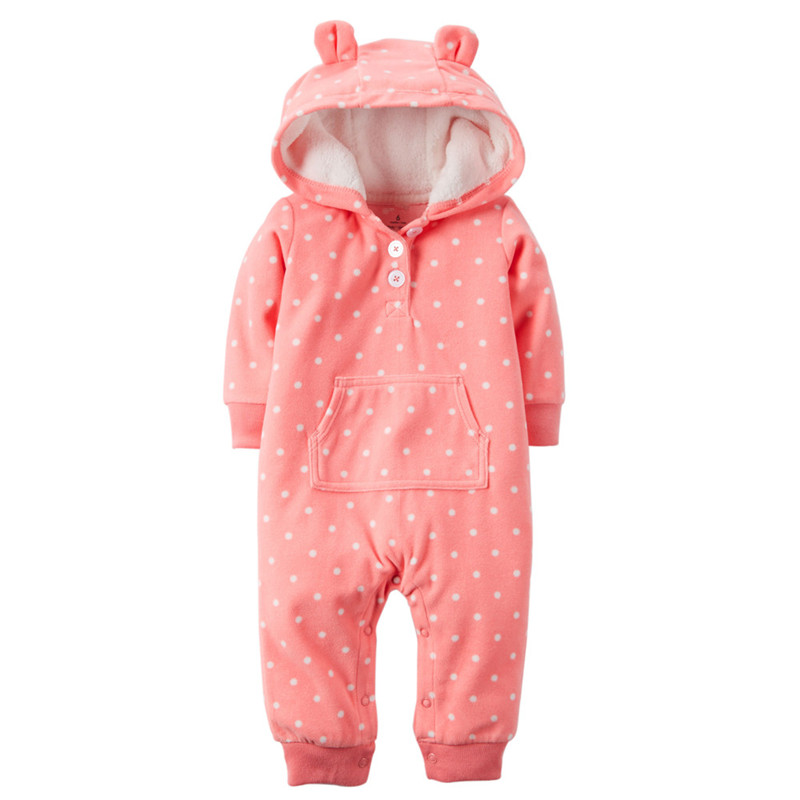 Original kids bebes snow clothes Winter Rompers hoodies infant clothing one piece Baby Girls boys love pink jogging suits<br><br>Aliexpress