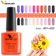 #61508 Venalisa Nail Gel Polish Color Nail Gel Soak Off Fast Dry Long-Lasting Beauty Color Gel 901~920(China)