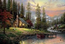 Free shipping,Thomas Kinkade,Winnie-The-Pooh,Alan Alexander Milne,Decor Prints Realistic Oil Painting Printed On Canvas -1252(China)