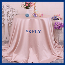CL053C many colors available cheap round blush thick satin wedding table cloth