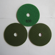4 Inch/100mm 800# Granite Standard Diamond Flexible Wet Polishing Pad Special for Granite 10 Pcs/lot Diamond Stone Tools(China)