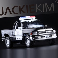 High Simulation Exquisite Diecasts&Toy Vehicles: KiNSMART Car Styling Dodge RAM Police CCar 1:44 Alloy Diecast Model Toy Car