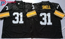 Embroidered Logo Donnie Shell 31 black Throwback high school FOOTBALL JERSEY for fans gift cheap 1108-30(China)