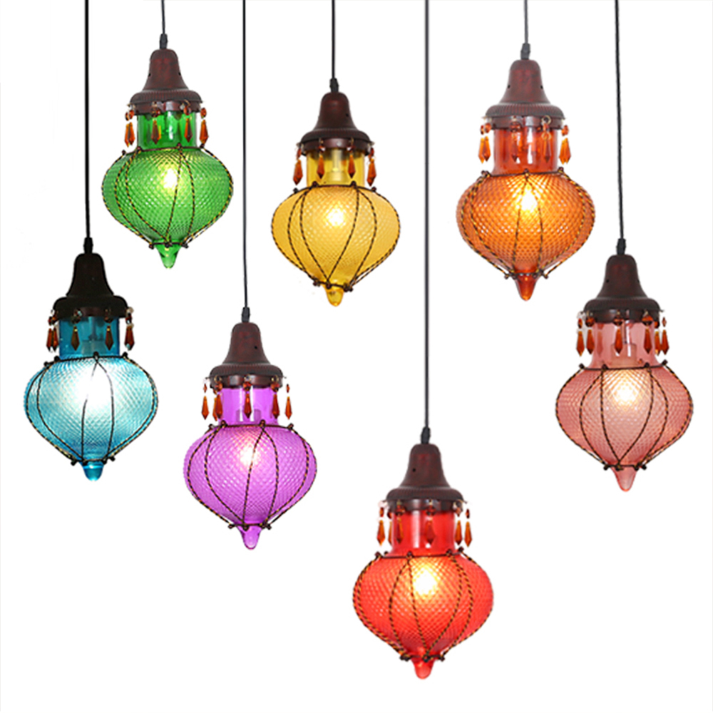 interior lamp hanging globe light restaurants coffee shop vintage pendant lamp christmas led pendant edison light color glass<br><br>Aliexpress