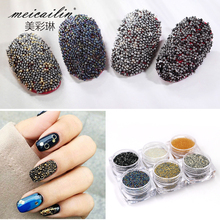 1Box Nail Crystal Mini 0.8mm Gardient Beads Shining 3D Nail Jewelry Rhinestone For UV Gel Manicure Nail Art Decoration meicailin