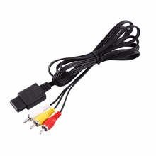 1.8m Audio TV Video Cord A/V Composite RCA Cable male to male for N64 for Nintendo(China)