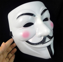 Scary Mask 1PC Party Masks Vendetta Mask Anonymous Guy Fawkes Fancy Dress Adult Costume Accessory Party Cosplay Carnaval Masks(China)