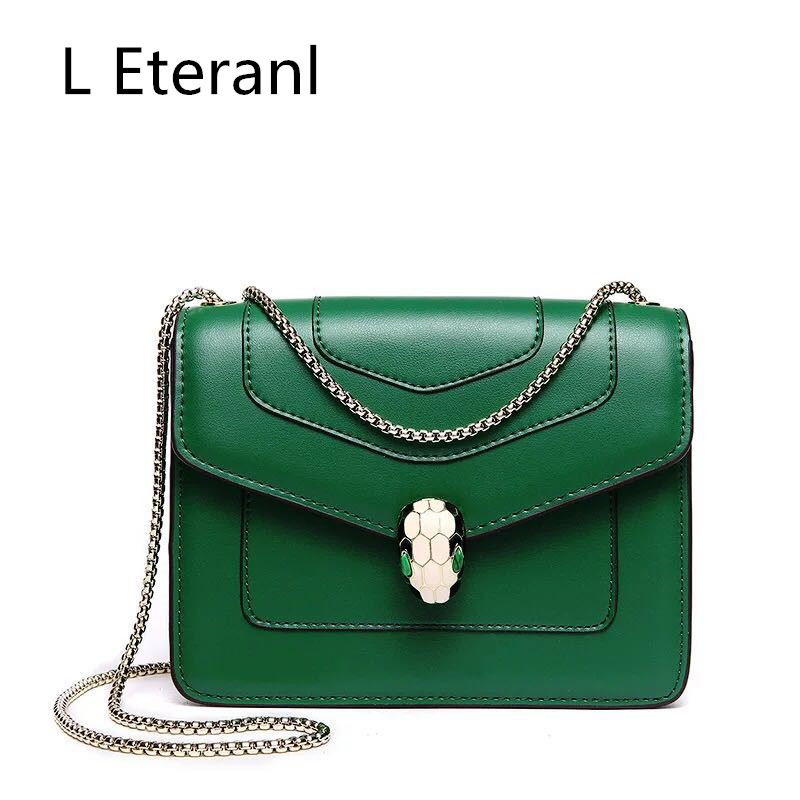 L Limited Top Interior Compartment Women Hard Eteranl 2017 Shoulder Sole Womens Bags Chain Bag Snake Fang Bao 2 Layer Leather <br>