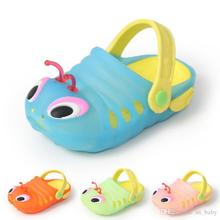 Kids Summer cute Sandals Shoes girl boy Caterpillar shoes carpenter worm hole casual shoes 4color & 6size(China)