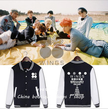 BTS sweat acessorios bangtan two series WINGS SUGA with baseball uniform and surrounding kpop clothes for girls(China)