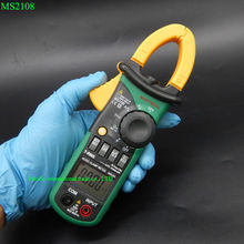 Multitester MASTECH MS2108 Digital Clamp Meter Multimeter 6600 Counts True RMS AC DC Capacitance Frequency Inrush Current Tester(China)