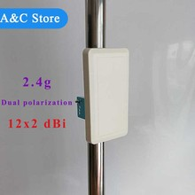 wifi antenna Dual polarization 24dBi 2.4g antenna indoor ourdoor Wall Mount Patch Panel Flat Antenna high quality factory price