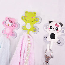1PC Cute Animal Suction Cup Towel Rack Hook Holders Frog Panda Pig Bee Pattern  Bathroom Sets Cartoon Sucker Suction Hooks