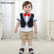 wedding suits for baby boy gentleman baby boy formal wear clothes suit boys short sleeve set lapal sets brand cotton shirt suits
