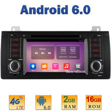 "7"" 1024*600 Quad Core 2GB RAM 16GB ROM 4G LTE SIM WIFI Android 6.0 Car DVD Player Radio For BMW 5 E39 X5 E53 M5 Range Rover USB(China)"