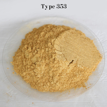 Type 353 Gold  Pigment Pearl powder dye ceramic powder paint coating Automotive Coatings art crafts coloring for leather