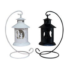 Retro Iron Light house candleholder Black/White home craft art candlestick wedding party romantic vintage candle holder candler