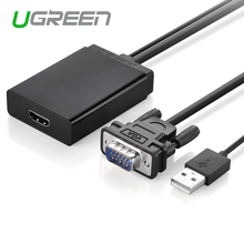Ugreen Active VGA to HDMI converter cable adapter with  audio 1080P for PC laptop to HDTV Projector With built-in chipset