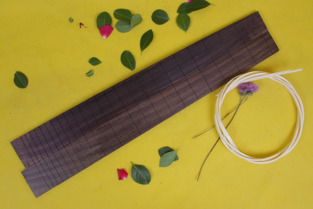 Guitar Accessories 2  x  25.5electric   Guitar Fretboard electric guitar  rose Wood Fretboard Parts 00-45# inlay<br>