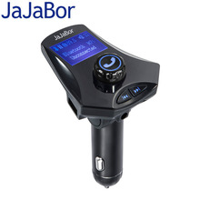 JaJaBor Bluetooth Car Kit Handfree 5V/2.5A Dual USB Fast Charge Aux Stereo Car MP3 Player FM Transmitter Playing Folder Music(China)