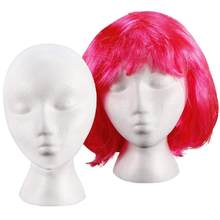 White Portable Female Foam Mannequin Head Wig Stand Shop Hat Cap Sunglasses Scarf Display Stand(China)