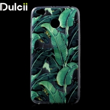 Dulcii for Xiaomi Redmi 4X Phone Cover Ultra Thin Patterned Printing TPU Mobile Casing for Xiaomi Redmi 4X fundas - Banana Leaf(China)