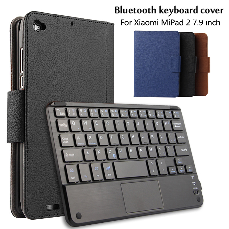 For Xiaomi Mipad2/3 Mipad 2 / Mipad 3 7.9 inch Tablet Magnetically Detachable Bluetooth Keyboard Portfolio PU Leather Case Cover<br>