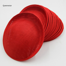 20Cm DIY Hat Base Tea Party Wedding Church Handmade DIY Linen Hat Accessrories Bride DIY Fascinator Hat Base DIY Pillbox Hat(China)