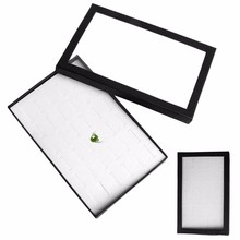 36 Ring Jewellery Display carrying cases Storage Box Tray Show Case Organiser Earring Holder -Y102