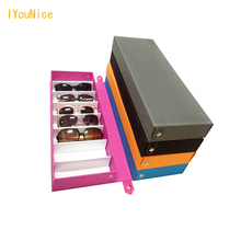 Sunglasses Box Double Layer 8 Slots Eyeglass Gift Storage Organizer Box Eyewear Drawer Box Collector, Sunglasses Storage Box