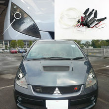 For mitsubishi colt version R 2006 2007 2008 Excellent angel eyes Ultra bright illumination CCFL Angel Eyes kit Halo Ring