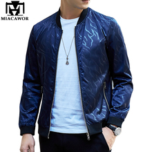New Spring Men Bomber Jacket Fashion Baseball Jacket Casual Men Coat Brand Clothing Jaqueta Masculina 4XL MJ391