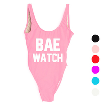 2016 Sexy BAE WATCH One Piece Swimsuit Women Bathing Suit  Kid's Swimwear Monokini Bodysuit Baby Girl Child Beach Wear