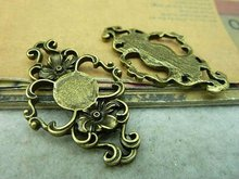 10pcs 27*43mm Vintage Bronze Alloy Filigree Flower Jewelry Connectors Jewelry Findings Fit Metal Jewelry Components 3039