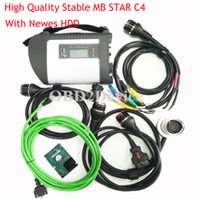 High Quality Mb Star C4 SD Connect with HDD 12/2017V Latest mb star c4 Xentry/DTS/Vediamo full chip mother board DHL Free(China)