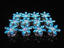 Fashion Girl Hair Clip Headwear Female New Snowflake Crystal Twists Spins Hair Pins hair accessory(China)
