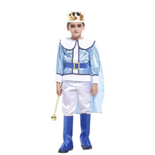 2017 Boy Kids Children Arab Prince King Cosplay Costume Fancy Dress Cloak Clothing Set Birthday Party Gift