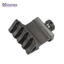 MIZUGIWA 1 Pair ( 2 Pcs) 4 Slot 45 Degree Angle Offset Fit 20mm Rail Mount Quick Release Aluminium Alloy High Quality Hunting(China)