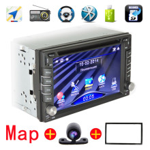 NEW 2 Din Car DVD GPS player Navigation Support steering wheel Bluetooth can play DVD CD/VCD/MP3 / MP5/ SD/USB/TF Radio Tuner