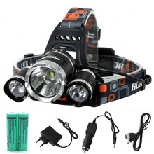 Rechargeable 12000Lm xm-L2 Led HeadLamp Headlight head lamp Fishing Light Lantern +2x 18650 battery +Car charger+AC Charger+USB