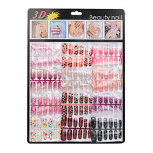 New Arrival 2017 144pcs Mixed Set False Nail Tips Artificial Fake Nails Art Acrylic Manicure Gel Nail tools Colorful