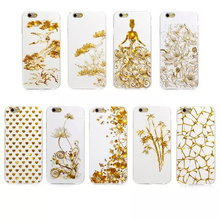 Fashion Classic Cool China Style Golden phoenix White Black Back cover for iphone 6 6s 6plus 6s plus phone case Capa Coque Funda