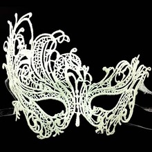 Sexy Phoenix Swan Black White Eye Lace Mask Masquerade Hollow Face Mask Fancy Dress Nightclub Wedding Party Dress Mask Supplies
